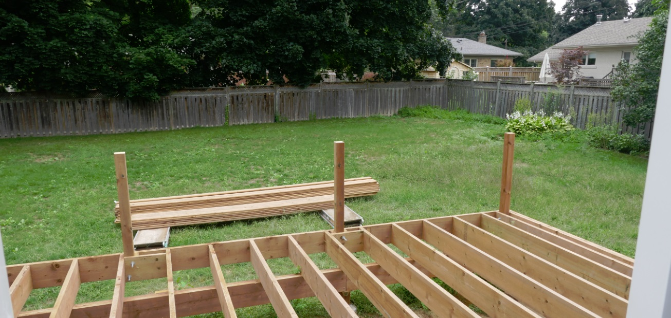 bid wooden built to command the backyard