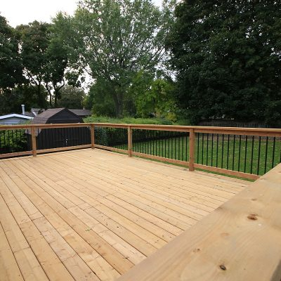 wooden deck backyard bungalow burlington lawn recreation