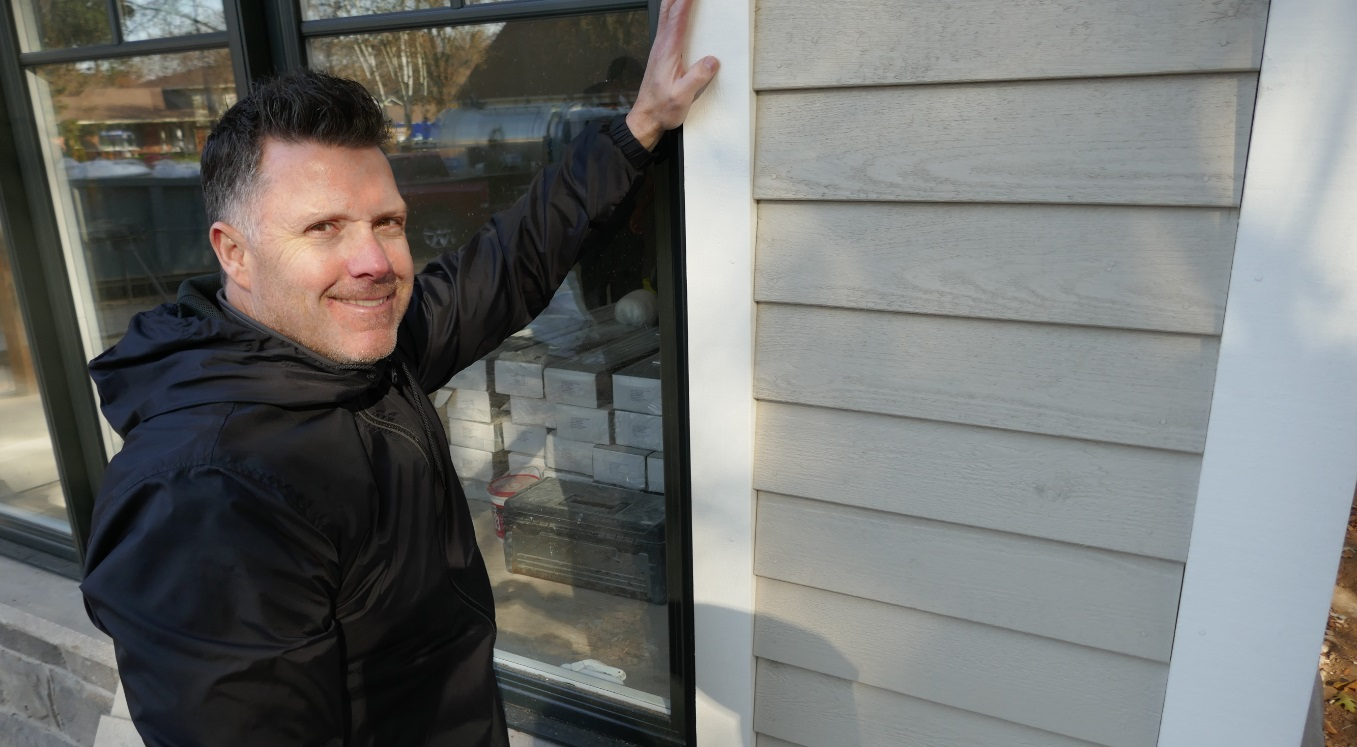 natural wood siding in Oakville