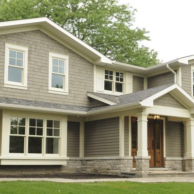 Eastview homes, wood siding project in Burlington