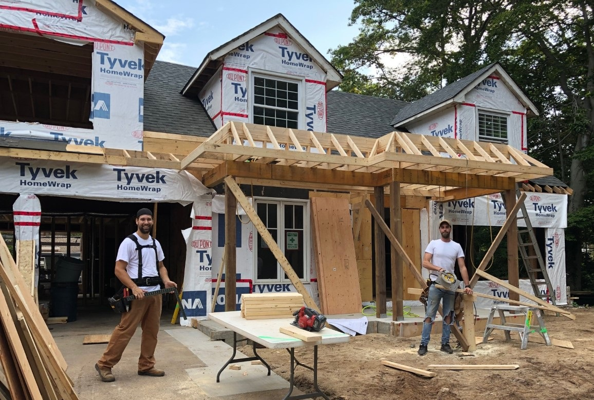 structural framing in home addition