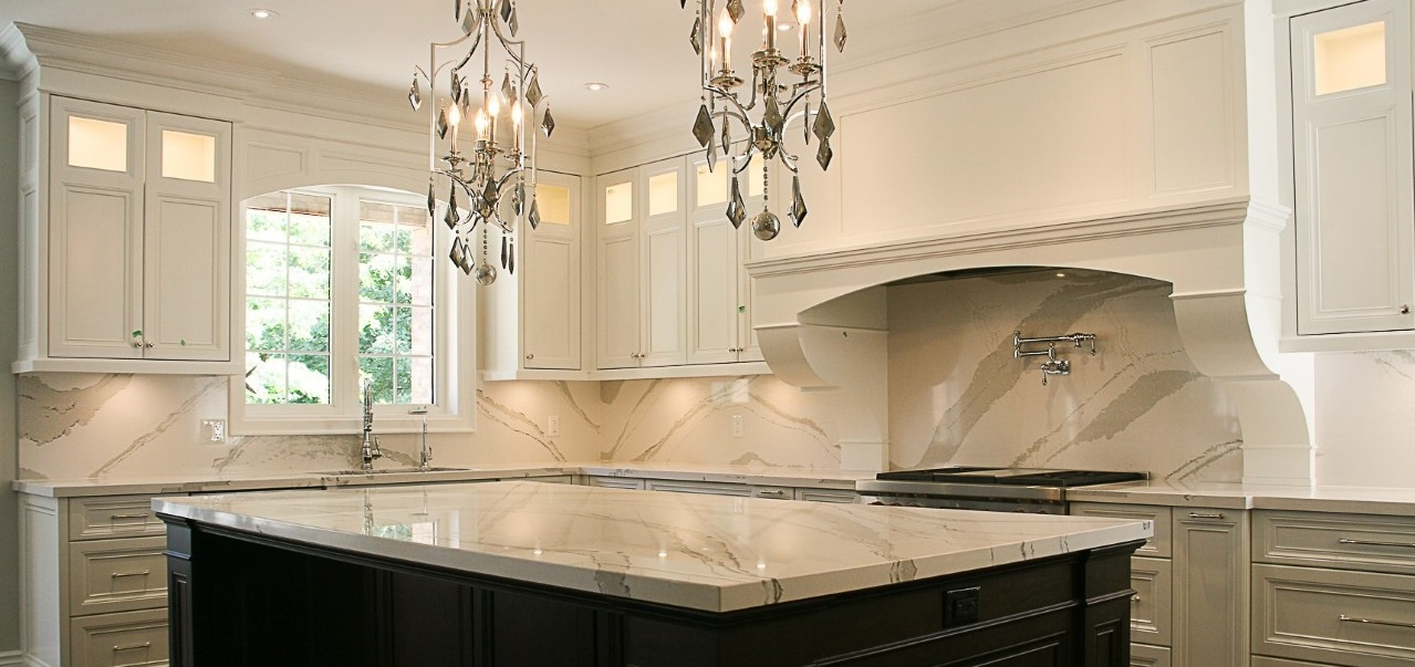 marble kitchen remodel with island
