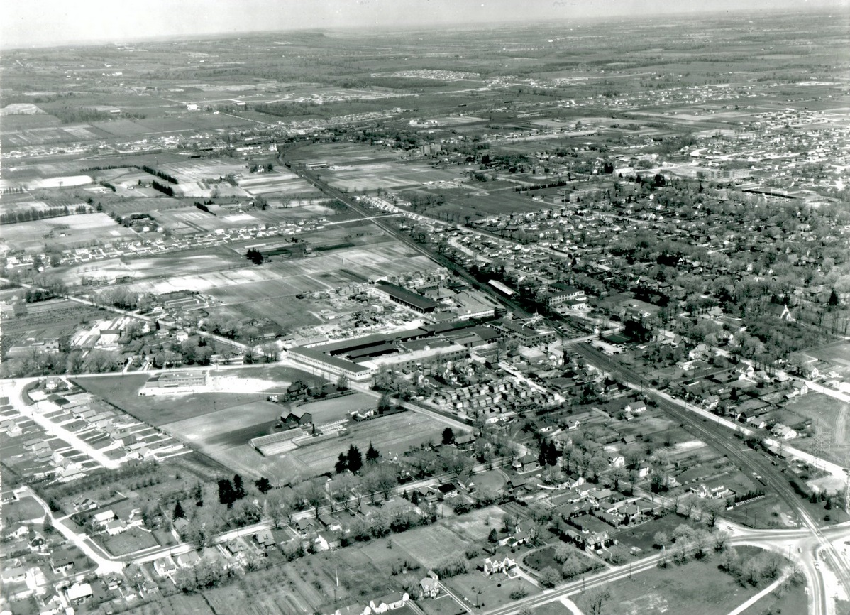 The City of Burlington in 1956 - view from the air