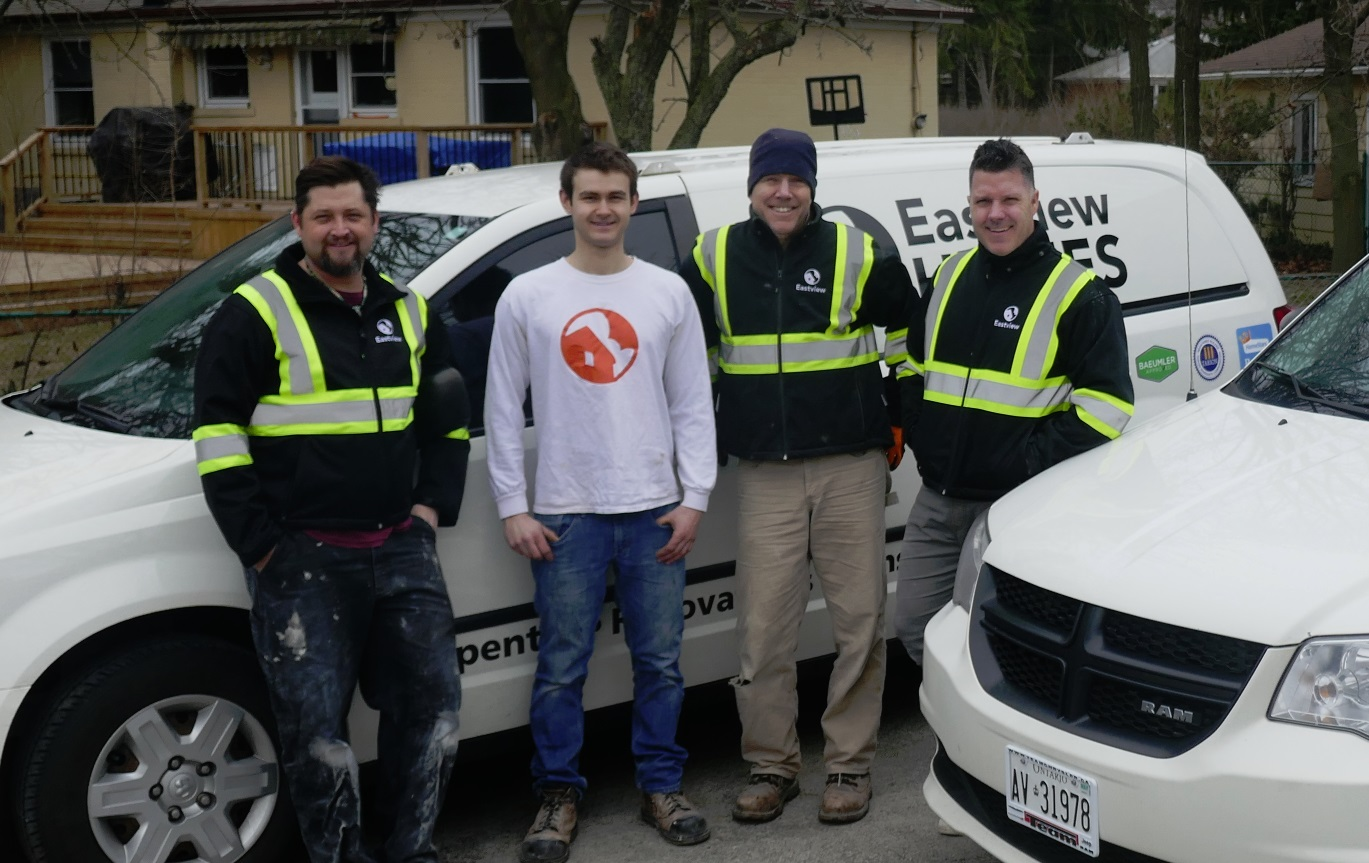 wide shot of Eastview Homes core four employees