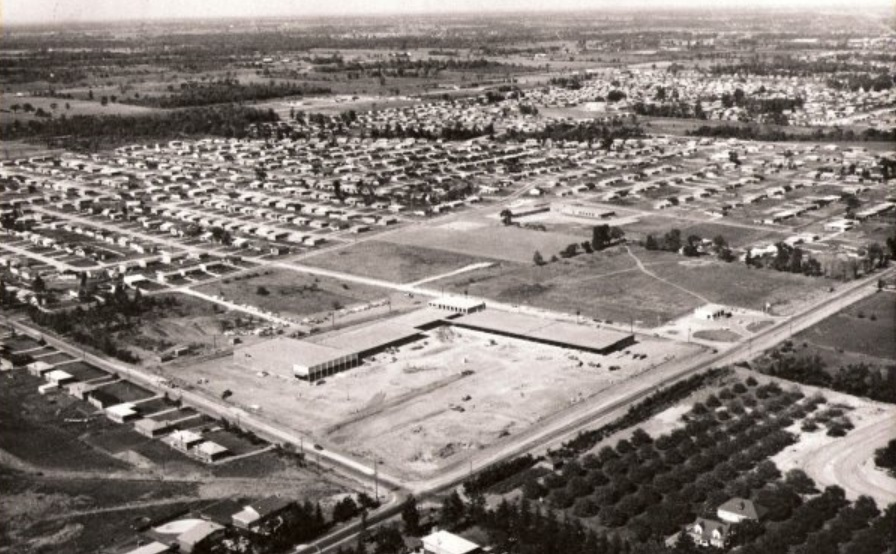 Hopedale Mall construction 1959 Oakville