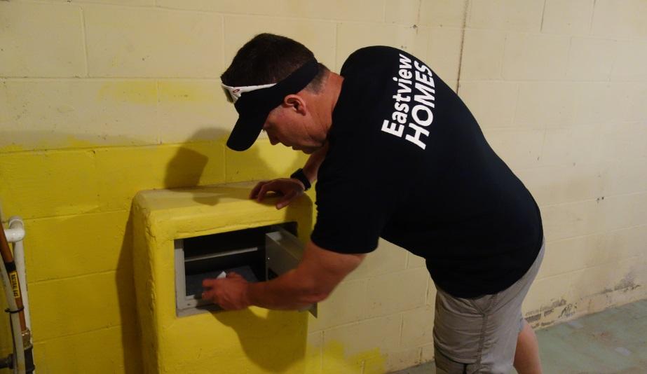 wall safe basement lock box